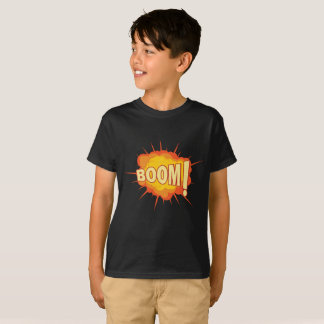 Hanes shirt for kids with explosion boom