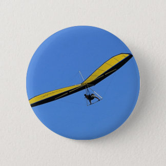 Hang glider in the sky 2 inch round button