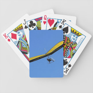 Hang glider in the sky bicycle playing cards