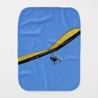 Hang glider in the sky burp cloth