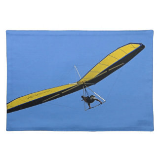 Hang glider in the sky placemat