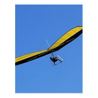 Hang glider in the sky postcard