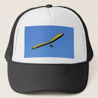 Hang glider in the sky trucker hat