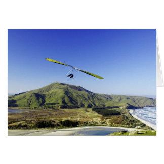 Hang Glider, Otago Peninsula, near Dunedin, Card