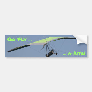 Hang gliding bumper sticker