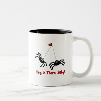 Hang In There, Baby! Spider Two-Tone Coffee Mug