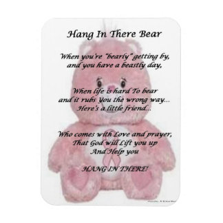 Hang in There Bear Rectangular Photo Magnet