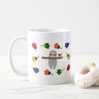 Hang in there Cute baby sloth custom name Coffee Mug