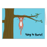 Hang in There Greeting Card w/ Marshmallow the Cat
