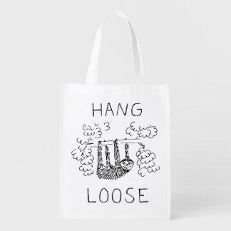Hang Loose Sloth Reusable Grocery Bag