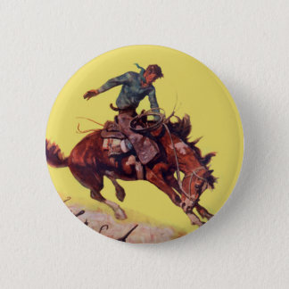 Hang On Cowboy 2 Inch Round Button