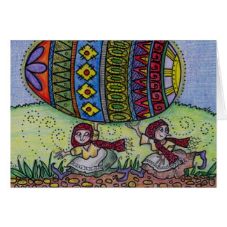 Hang on to Your Pysanka Ukrainian Folk Art Card