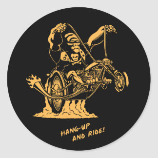 Hang Up & Ride! Classic Round Sticker