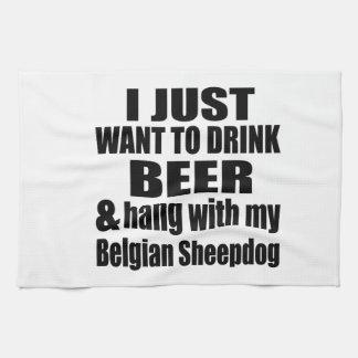 Hang With My Belgian Sheepdog Kitchen Towel