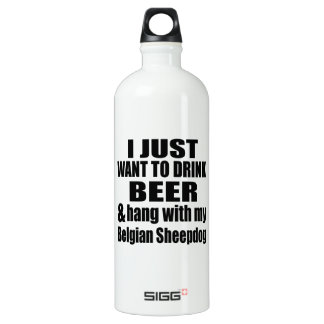Hang With My Belgian Sheepdog Water Bottle
