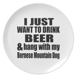 Hang With My Bernese Mountain Dog Plate
