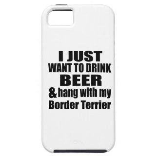 Hang With My Border Terrier iPhone 5 Cases