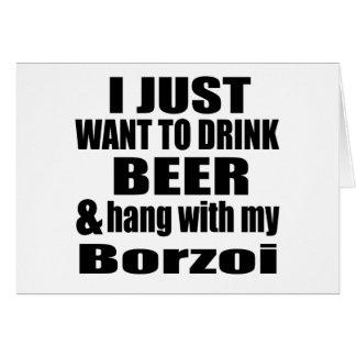 Hang With My Borzoi Card