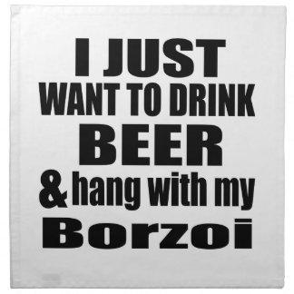 Hang With My Borzoi Napkin