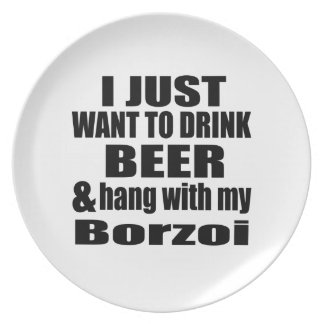 Hang With My Borzoi Plate