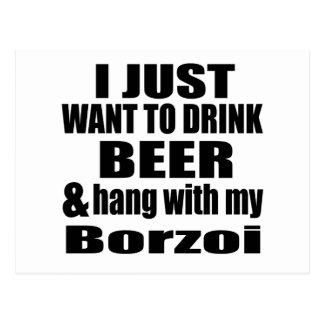 Hang With My Borzoi Postcard