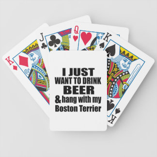 Hang With My Boston Terrier Bicycle Playing Cards