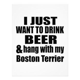 Hang With My Boston Terrier Letterhead