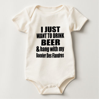 Hang With My Bouvier Des Flandres Baby Bodysuit