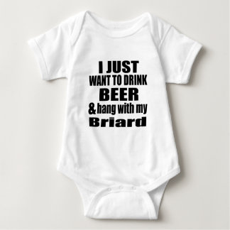 Hang With My Briard Baby Bodysuit