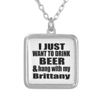 Hang With My Brittany Silver Plated Necklace