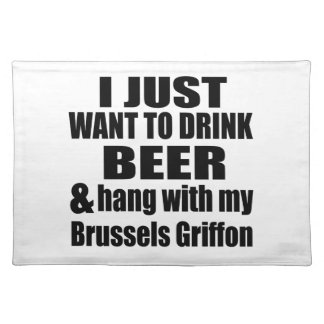 Hang With My Brussels Griffon Place Mats