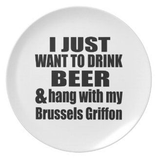 Hang With My Brussels Griffon Plate