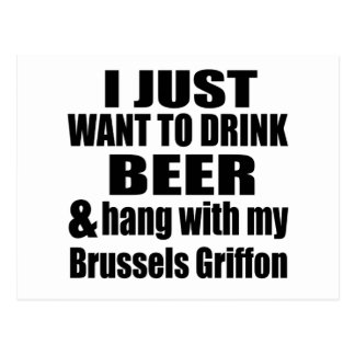 Hang With My Brussels Griffon Postcard