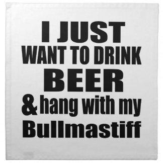 Hang With My Bullmastiff Napkin