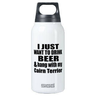 Hang With My Cairn Terrier Insulated Water Bottle
