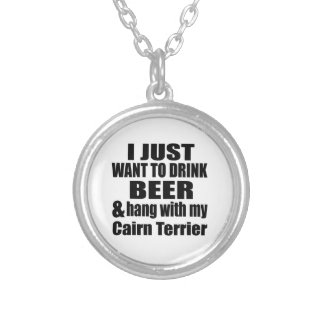 Hang With My Cairn Terrier Silver Plated Necklace