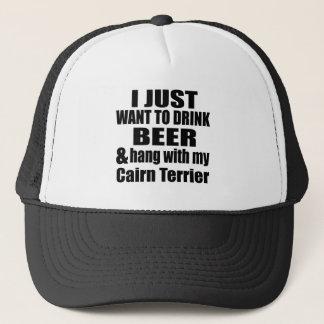 Hang With My Cairn Terrier Trucker Hat