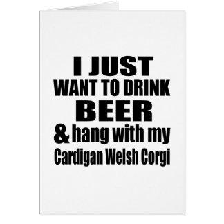 Hang With My Cardigan Welsh Corgi Card