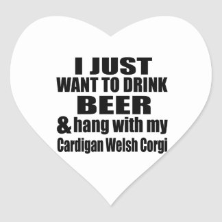 Hang With My Cardigan Welsh Corgi Heart Sticker