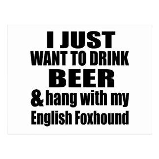 Hang With My English Foxhound Postcard