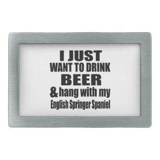 Hang With My English Springer Spaniel Belt Buckles