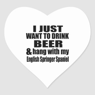 Hang With My English Springer Spaniel Heart Sticker