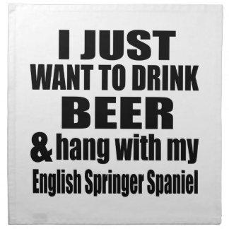 Hang With My English Springer Spaniel Napkin