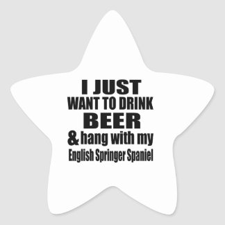 Hang With My English Springer Spaniel Star Sticker