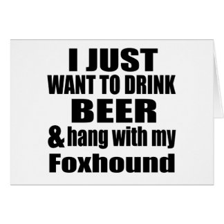 Hang With My Foxhound Card