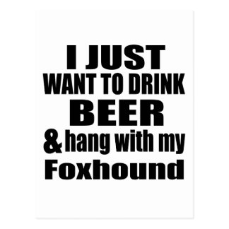 Hang With My Foxhound Postcard