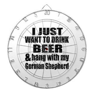 Hang With My German Shepherd Dart Boards