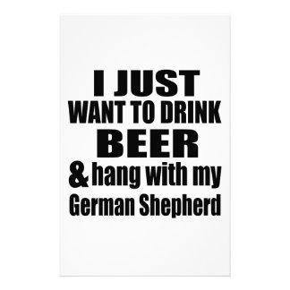 Hang With My German Shepherd Stationery