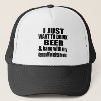 Hang With My German Wirehaired Pointer Trucker Hat