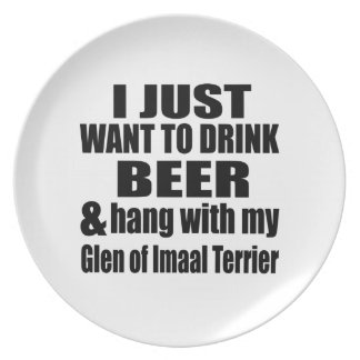Hang With My Glen of Imaal Terrier Party Plate